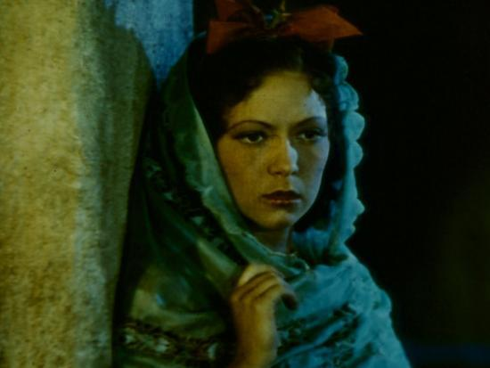 Frame of Hand-Tinted Silent Film-Fritz Goro-Photographic Print