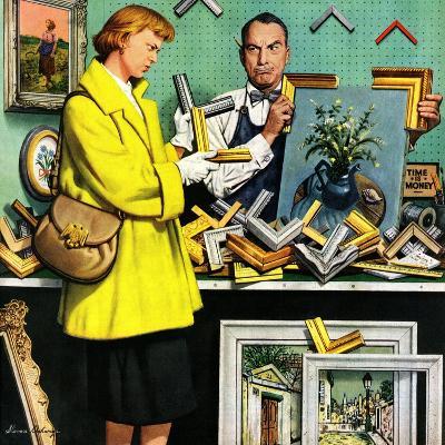 """Frame-Up"", April 30, 1955-Stevan Dohanos-Giclee Print"