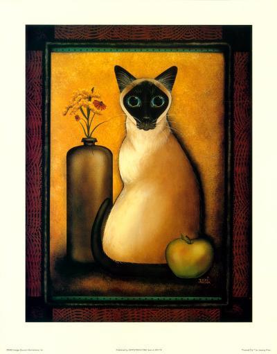 Framed Cat I-Jessica Fries-Art Print