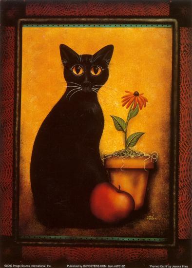 Framed Cat II-Jessica Fries-Art Print