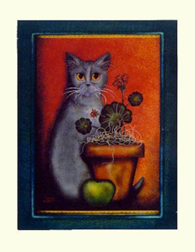Framed Cat IV-Jessica Fries-Art Print