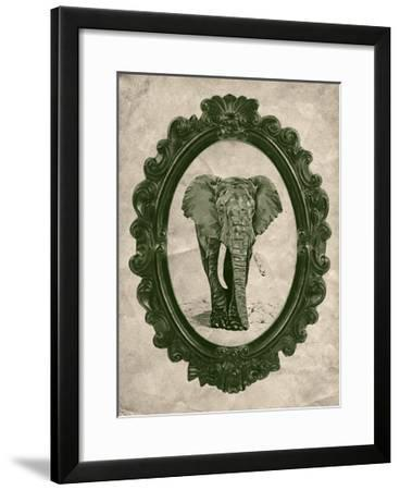 Framed Elephant in Evergreen-THE Studio-Framed Premium Giclee Print