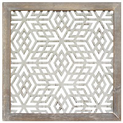 Framed Laser-Cut Panel - Gray--Home Accessories