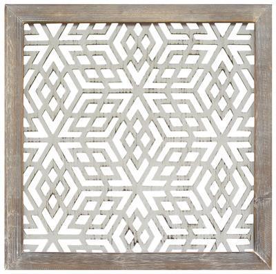 Framed Laser-Cut Panel - Gray