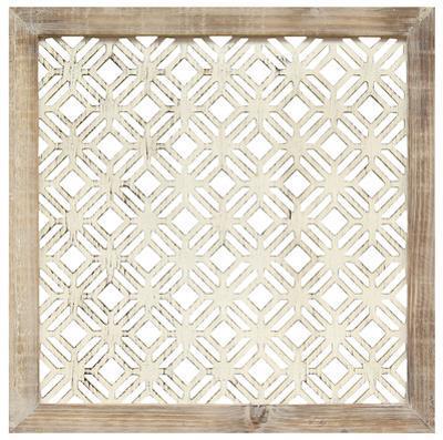 Framed Laser-Cut Panel - Ivory