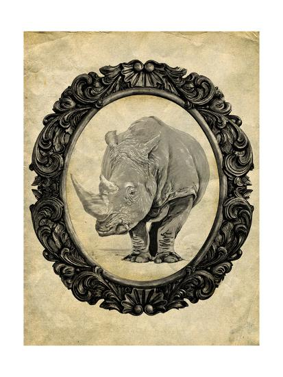 Framed Rhinoceros-THE Studio-Premium Giclee Print
