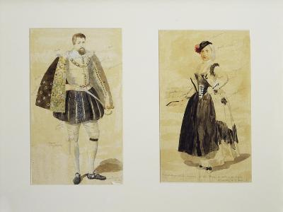 Framed Theatrical Sketches from 18th Century, Italy--Giclee Print