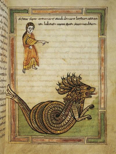 France, 9th Century, Abbey of Saint-Amand, Illuminated Apocalypse Latin Manuscript--Giclee Print