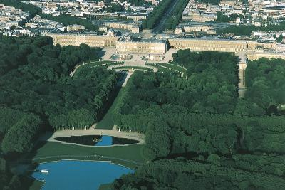 France, Aerial View of Palace of Versailles--Photographic Print