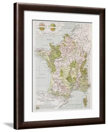France Agriculture Old Map-marzolino-Framed Art Print