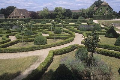 France, Aquitaine, Gardens of 13th Century Castle of Beauvoir--Giclee Print