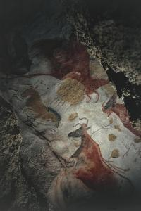 France, Aquitaine, Lascaux Grotto, Restoration Intervention on Upper Paleolithic Cave Painting
