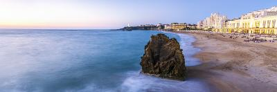 France, Aquitaine, Pyrenees Atlantiques, Biarritz. La Grande Plage at Sunset-Matteo Colombo-Photographic Print