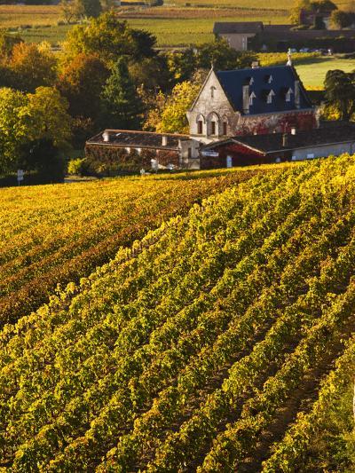 France, Aquitaine Region, Gironde Department, St-Emilion, Wine Town, Unesco-Listed Vineyards-Walter Bibikow-Photographic Print
