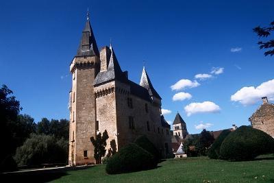 France, Aquitaine, Saint-Leon Sur Vezere, Cleirans Castle--Giclee Print
