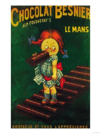 France - Besnier Chocolate Promotional Poster-Lantern Press-Art Print