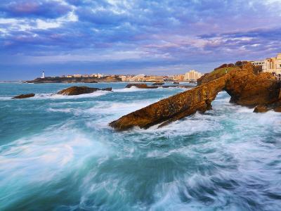 France, Biarritz, Pyrenees-Atlantique, Seascape-Shaun Egan-Photographic Print