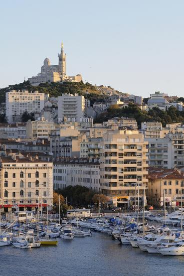 France, Bouches Du Rhone, Marseille. Cityscape and Waterfront-Kevin Oke-Photographic Print