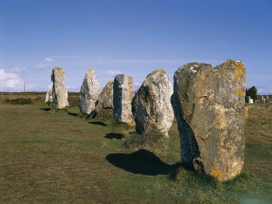 France, Brittany, Carnac, Prehistoric Megalithic Alignments--Giclee Print