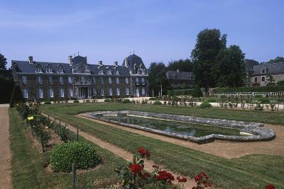 France, Brittany, Garden of 18th Century Caradeuc Castle--Giclee Print