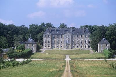 France, Brittany, Morbihan, Fortress and Garden of 18th Century Loyat Castle--Giclee Print