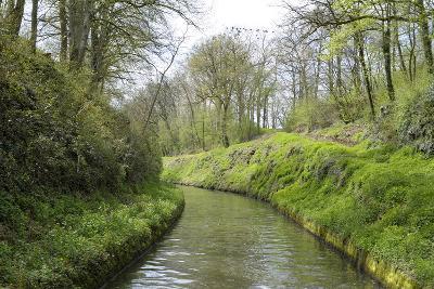 France, Burgundy, Nievre. Lush Banks of the Nivernais Canal-Kevin Oke-Photographic Print