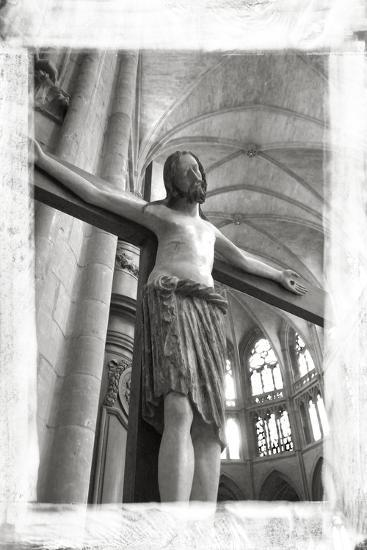 France, Burgundy, Nievre, Nevers. Crucifix at Nevers Cathedral-Kevin Oke-Photographic Print