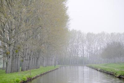 France, Burgundy, Nievre. Spring Along the Nivernais Canal-Kevin Oke-Photographic Print