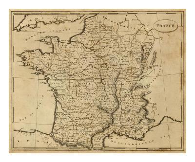 France, c.1812-Aaron Arrowsmith-Art Print