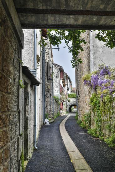 France, Cajarc. Narrow alley.-Hollice Looney-Photographic Print
