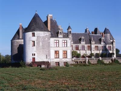 France, Centre, Indre-Et-Loire, Sonzay, La Motte Castle--Giclee Print
