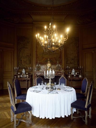 France, Chateau De Saint-Fargeau, Dining Room--Giclee Print