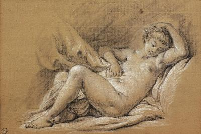 France, Chinoiseries, Drawing of Woman Nude on a Bed--Giclee Print