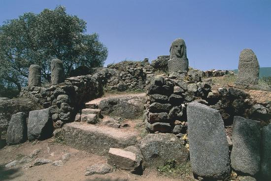 France, Corsica, Filitosa Prehistoric Archaeological Site, Anthropomorphic Menhir Statue--Giclee Print