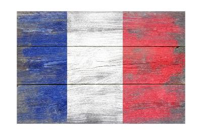 France Country Flag - Barnwood Painting-Lantern Press-Art Print