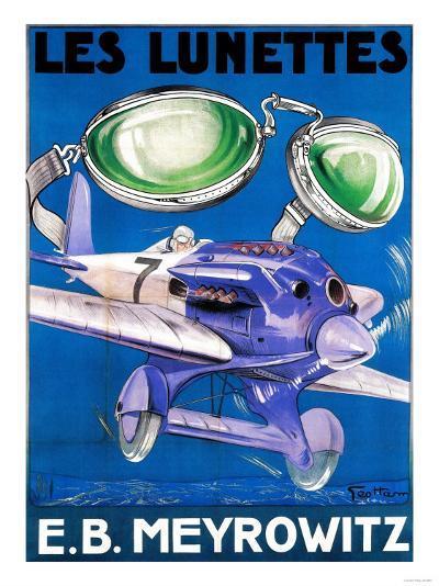 France - E.B. Meyrowitz Flying Goggles Advertisement Poster-Lantern Press-Art Print