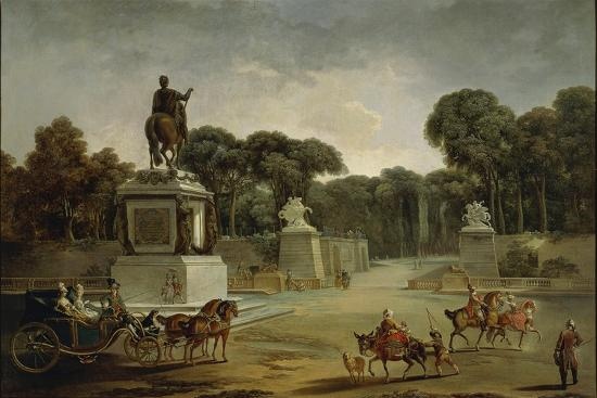 France, Entrance to Tuileries Palace in Paris in around 1775--Giclee Print