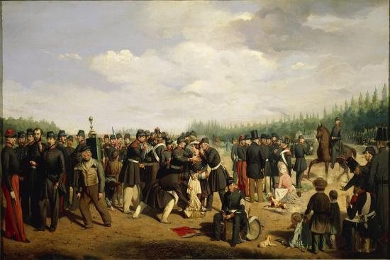 France, French National Guard, Painting by Arsene Hurtel, 1849--Giclee Print