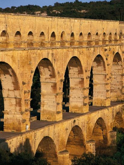 France - Gard - Pont Du Gard - Roman Aqueduct on Gardon River (19 Back--Photographic Print