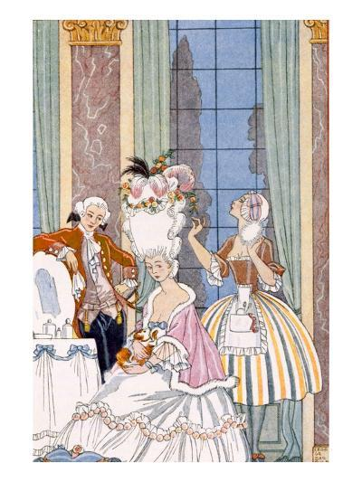 France in the 18th Century, from 'The Art of Perfume', Pub. 1912 (Pochoir Print)-Georges Barbier-Giclee Print