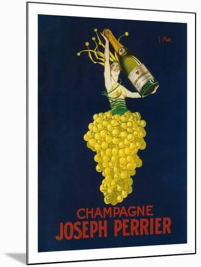 France - Joseph Perrier Champagne Promotional Poster-Lantern Press-Mounted Premium Giclee Print