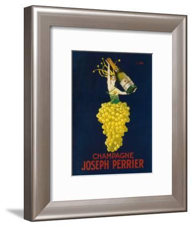 France - Joseph Perrier Champagne Promotional Poster-Lantern Press-Framed Art Print