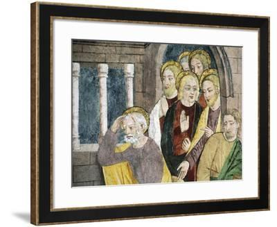 France, La Brigue, Notre-Dame Des Fontaines Chapel, Detail from Jesus Washing Apostles' Feet-Giovanni Canavesio-Framed Giclee Print