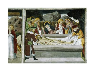 France, La Brigue, Notre-Dame Des Fontaines Chapel, Entombment of Jesus Christ, 1491-Giovanni Canavesio-Giclee Print