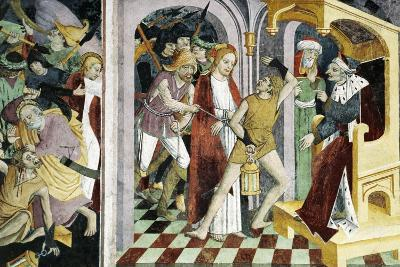 France, La Brigue, Notre-Dame Des Fontaines Chapel, Jesus Christ before Annas, 1491-Giovanni Canavesio-Giclee Print
