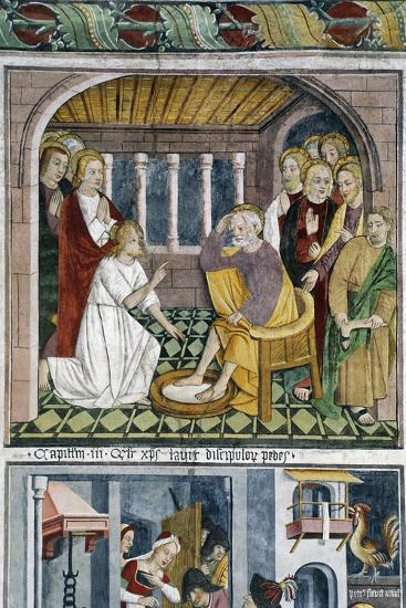 France, La Brigue, Notre-Dame Des Fontaines Chapel, Jesus Washing Apostles' Feet, 1491-Giovanni Canavesio-Giclee Print