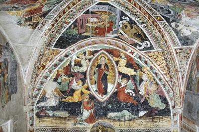 France, La Brigue, Notre-Dame Des Fontaines Chapel, Virgin and Saints, 1452-Giovanni Battista Ernesto Basile-Giclee Print