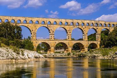 France, Languedoc-Roussillon, Gard, Vers-Pont-Du-Gard, River Gardon, Pont Du Gard-Udo Siebig-Photographic Print