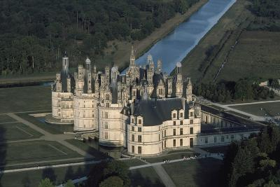 France, Loire Valley, Aerial View of Chateau De Chambord--Photographic Print