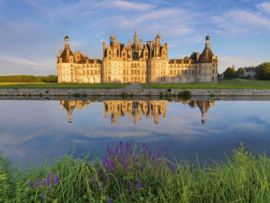 France, Loire Valley, Chateau De Chambord, Detail of Towers-Shaun Egan-Photographic Print